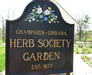 The Champaign-Urbana Herb Society garden sign